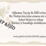 Recep ile İŞİD çifti Türkiyeyi Suriye bataklığına sürüklüyor. #EvreneMesajım http://t.co/LRPvirYYbr