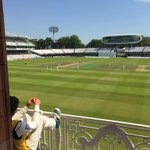 Not many better views in world cricket than the Lords balcony on a day like today! http://t.co/owbqQ5gdDA