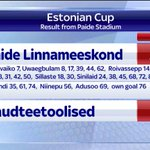 Premier League club Paide beat non-league Raudteetoolised 31-0 in the Estonian Cup. #SSNHQ http://t.co/fioSguTc6e