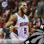 First big surprise of the summer, DeMarre Carroll bolting Atlanta for Toronto. http://t.co/V6cOEkCElN