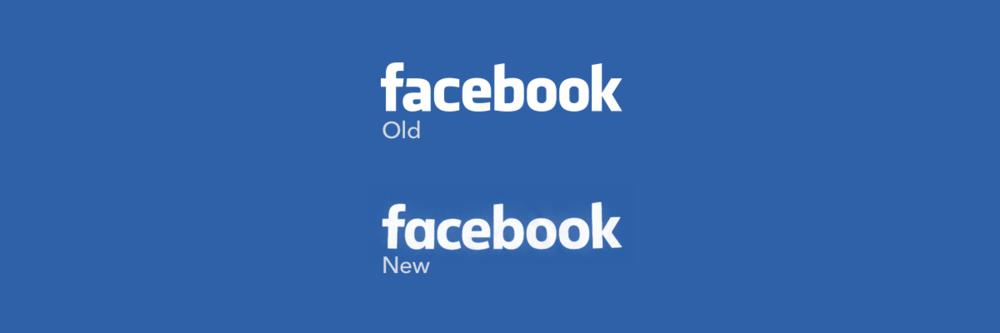 Le nouveau logo Facebook versus l'ancien. http://t.co/QtJyPnfxus