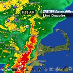 Wind gusts up to 40 mph, torrential rain, lightning as the line of rain moves northeast at 45mph. #wbz http://t.co/u1G95M8SGu