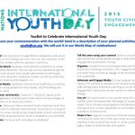 RT @ravikarkara: .@UN4Youth #YouthDay celebrate youth civic engagement http://t.co/FO5LVLmuDG @HelenClarkUNDP @phumzileunwomen @UN http://t…