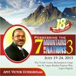 Apostle Victor Uchegbulam will be Speakin at the 2015 #AllNationsCongress http://t.co/oAX426Xrdl @peaceanene @smithrufus1 @olajide_e @CodjoB