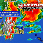 Severe thunderstorm WARNING Marthas Vineyard until 10am. Wind gusts near 60mph. Frequent lightning likely. #7news http://t.co/C2NSOv48wm