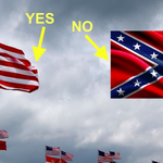 NASCAR will let you trade in your Confederate flag for a U.S. flag at Daytona: http://t.co/TNAfe2F9eX http://t.co/3HGoHnopKs