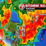 Strong thunderstorms on Cape right now...frequent lightning & locally heavy rain likely. #7news http://t.co/fSKNe5Bqcl