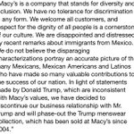 Heres Macys full statement to CNN on why its cutting ties with Donald Trump http://t.co/rE9cPLPa2n
