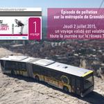 Episode de #pollution sur la métropole de #Grenoble. Jeudi 2 juillet, 1 voyage validé est valable toute la journée http://t.co/F0hb1dWTul