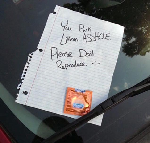 Dear people that suck at parking…