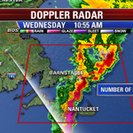 Heavy downpours & embedded thunderstorms pushing through the arm of the Cape... Heading towards #ACK #Fox25Storms http://t.co/g1ye0ks7wc