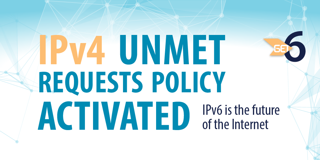 Alert! ARIN #IPv4 Unmet Requests Policy activated. Smaller than qualified blocks being issued & waiting list started http://t.co/7FbXnltw2U