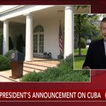 COMING UP: President Obama to make statement on opening of embassy in Cuba http://t.co/LXwE6cRAqs http://t.co/1YKLhtmPdy