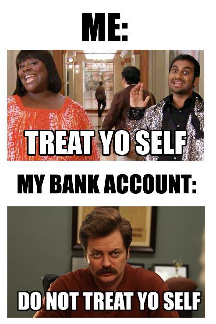 Me vs. My bank account