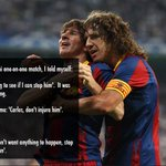 Carles Puyol on Lionel Messi - http://t.co/HqejpUWbvg