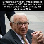 RIP Sir Nicholas Winton. What a hero. http://t.co/yq1mua1LEP
