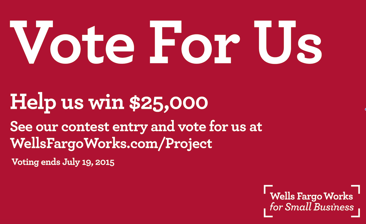 RT @mySitota: We've entered #wellsfargoworksproject to win a 25K small bizz grant. Please vote for us at  https://t.co/VmzvYcAga1 http://t.…
