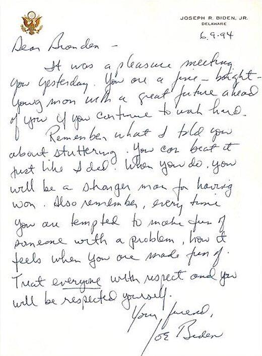 On a 8th field trip to DC, we had a Q&A with @VP Joe Biden. I got this letter a week later. It still inspires me. http://t.co/3YHcguj2Bo