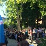 Vollstes Haus bei der @cdupankow im Pfefferberg in Prenzlberg. Sommerfest. Neue Leute. Läuft. @GottfriedMdA http://t.co/P1Om8JH7JJ
