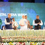 Releases by Honble PM Shri. @narendramodi at #DigitalIndiaWeek launch ceremony. #DigitalIndia @PMOIndia http://t.co/IQIzEtBYNZ