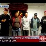 #ESTAMADRUGADA: DESARTICULAN BANDAS DE REQUETEROS EN EL SUR DE #LIMA VIA #ANMEDIODIA http://t.co/QWyCkdkIpt