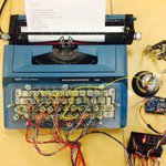 Crazy man makes typewriter into computer printer. http://t.co/EU6C2vdscs http://t.co/uADQrMr0ws