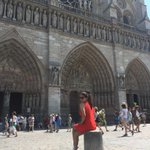In Paris . ... Notre Dame cathedral