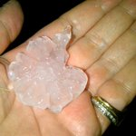 Golf ball sized hailstones after massive electric storm here in #bolton http://t.co/JT0kOm06W5
