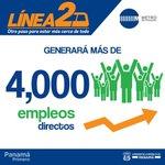 La Línea 2 generará más empleo. #PanamáPrimero http://t.co/a0YvystuXk