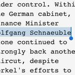 Aus dem @wikileaks NSA-Report. Wenn ich das richtig verstehe, suchte ein gewisser Wolfgang #Schnäuble nen Friseur ????. http://t.co/o8AurT6lxn