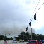 Panoramic view of Palm Beach Gardens brush fire smoke at PGA Blvd and Central Blvd @CBS12 #flwx #brushfire #flfire http://t.co/o7rTHV5FUE