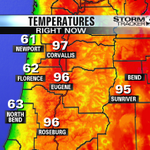 HOT again inland! #KEZIwx @KEZI9 http://t.co/H8rJqPbiLx