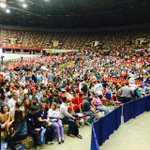 Doors are open and the crowd is already filling in for #BernieSanders #nbc15 http://t.co/va4fnpLJjP