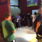 Veterans line up for free pot in Albany, first event of its kind in Oregon just started @KEZI9 http://t.co/P1Yd7TQmqM
