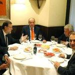 #LoMásLeído: El rey emérito cena con Rajoy, Zapatero, Aznar y Felipe González en Casa Lucio http://t.co/D620togSvU http://t.co/tgK8j4gACa