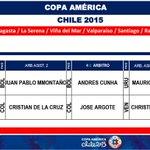 Árbitros designados para la gran final de la #CopaAmérica #Chile2015 https://t.co/YCLXnD0O1q http://t.co/F4zEi1vjWa