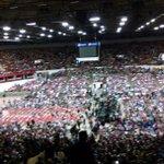 Bernie Sanders rally Madison Wi ....waiting for Bernie!!!! http://t.co/LbUsEBu7QK