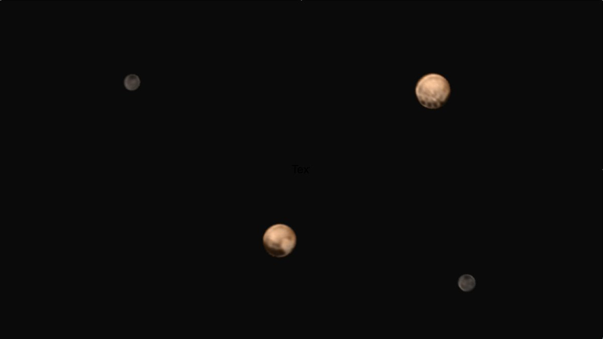 Guys, this image is AMAZING! Pluto's two very different faces. Thanks, @NewHorizons2015! 13 days to #PlutoFlyBy! http://t.co/64I1G4Gebw