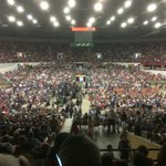 We are nearing capacity at the Alliant Energy Center. Has to be 10,000 +here now. #Bernie2016 #BernieSanders http://t.co/FHXMm3XD0p