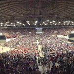 With Bernie Sanders about to come on in Madison, the arena is more or less full. http://t.co/TXMV7Agtfz