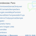 """""""@trendinaliaPE: #PatricioTeApoyamosSiempre acaba de convertirse en TT ocupando la 5ª posición en Perú http://t.co/L3sUbusdZZ"""" ya es TT <3"""