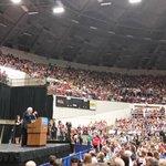 ".@BernieSanders calls for a $15 minimum wage. Calls current minimum ""starvation wages"" http://t.co/d2xktxPleI"