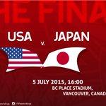 前回ドイツでの再現と ロンドン五輪の再現へ 連覇か、リベンジか  FIFA WOMEN'S WORLDCUP決勝  アメリカ vs 日本  日本時間7月6日月曜日朝8時 カナダ バンクーバー市 BC PLACE STADIUMから   http://t.co/GyRFtjf3Bd