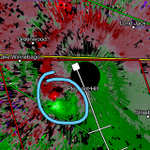 Nice couplet with possible funnel spotted near Pleasant Hill at 8:00 PM #fox4kc http://t.co/zZJFSnARg7