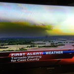 8:12pm Confirmed tornado. Pleasant Hill MO heading ESE. View from NewsChopper9 http://t.co/C6u6i1umB2
