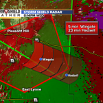 Tornado Warning continues. Take cover in Wingate & Strasburg. Confirmed tornado headed SE at 15 mph. #mowx http://t.co/8FARZA5VCo
