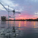 tonights sunset in #Oakland from a kayak in the estuary http://t.co/1LuYVqxtBt