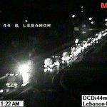 MODOT Cam near Lebanon shows traffic backing up on I-44 because of flash flooding #mowx #sgf #ozarks #flashflood http://t.co/mEpe2tktpo