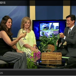 """Miss America from @MMFlints """"Roger & Me"""" http://t.co/wkNmmgRS28 appears w/ @StephenAtHome on """"Only in Monroe"""" http://t.co/9r2PvNYpP9"""
