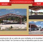 """Se construyó un salón de usos múltiples en la localidad """"Lic. Gustavo Díaz Ordaz"""" #CompromisoNotariadoCumplido 696 http://t.co/2aXQyQf15o"""